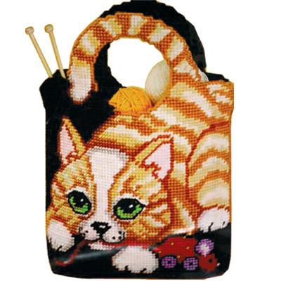 """Набор для вышивания  """"Моя любимая сумочка с кошкой """" * Техника: счетный крест * Артикул: 023-0449.  1000руб."""